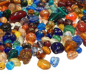 75 gefrostete perles de verre 4 mm bleu
