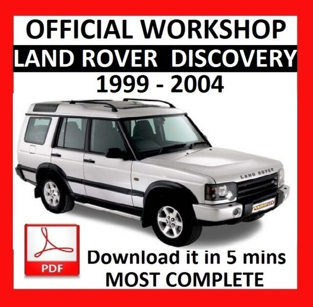 official workshop manual service repair land rover discovery 1999 rh ebay com 1999 land rover discovery repair manual 1999 land rover discovery owners manual