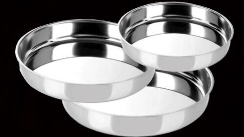 3er set Edelstahl Tablett Rund Buffet Platte Tepsi Sonderpreis Servierplatte