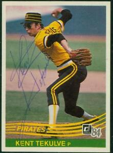 Original-Autograph-of-Kent-Tekulve-of-the-Pittsburgh-Pirates-on-a-1984-Donruss