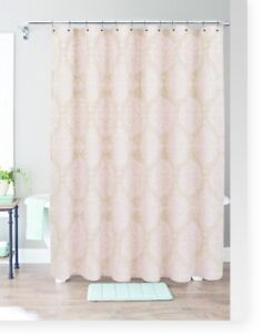 Image Is Loading Threshold Pink Moroccan Medallion Shower Curtain New