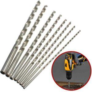 Extra-Largo-Broca-HSS-Cana-Recta-Perforacion-Herramienta-for-Aluminio-Madera