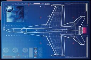 Air-Force-Monitoring-Advanced-Tactical-Fighter-Art-Print-Poster-24x36-inch