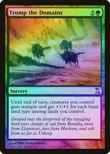 Tromp the Domains FOIL Time Spiral NM Green Uncommon MAGIC MTG CARD ABUGames