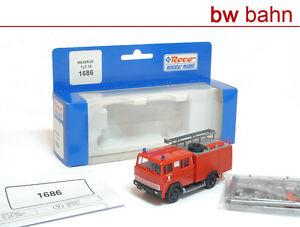 Roco-miniatur-H0-1686-Magirus-TLF-16-Feuerwehr-Lenggries-Feuerwehrauto-Neu