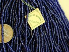Navy Blue Vtg Antique RARE Czech Glass Seed Beads Larger Hank DEAL OF THE MONTH!