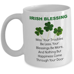 Coffee Tea Mug Ceramic 11 OZ Part Irish All Trouble St Patrick/'s Day
