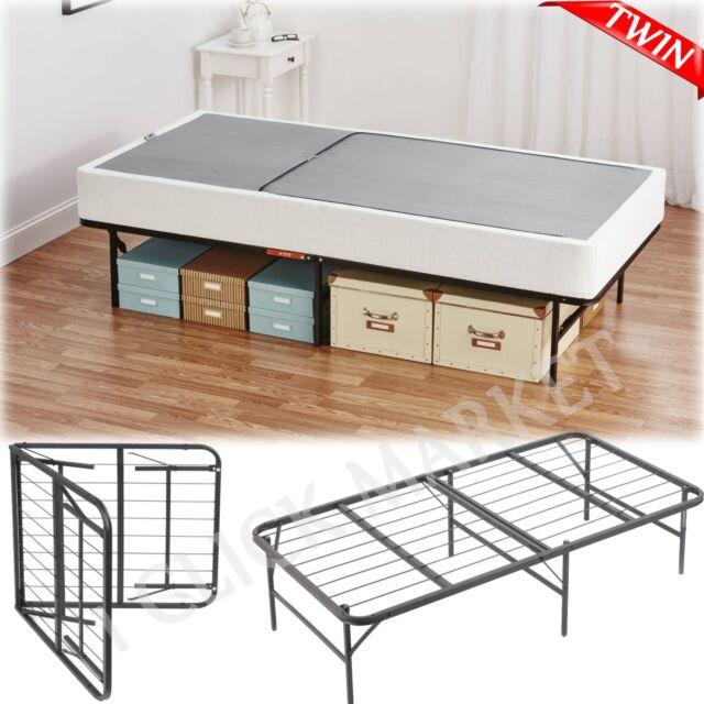Twin Size Frame Bed Metal Platform Heavy Duty Mattress ...