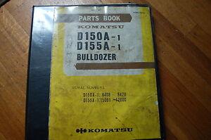 komatsu d150 d155 tractor dozer crawler parts manual book catalog rh ebay com Komatsu Fork Lift Parts Catalog 228 Komatsu Engine Parts Manuals