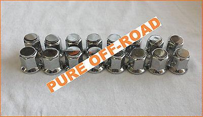 Set of 4 Kawasaki Mule Teryx 12mm 1.25 ITP Chrome Flat Base Lug Nuts 12 x 1.25