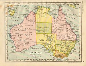 Map Of Australia New South Wales.Details About 1930 Map Australia New South Wales Victoria Queensland Inset Hobart