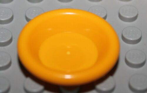 Lego Bright Light Orange Minifig Utensil Dish Plate NEW