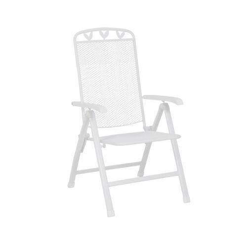 Silla plegable silla de jardín plegable blanco 58x64x108cm acero kunststoffummantelt