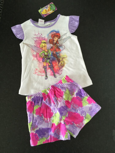 BNWT Girls Sz 6 Pretty Disney Fairies Short Summer Style Stretch PJ Pyjamas