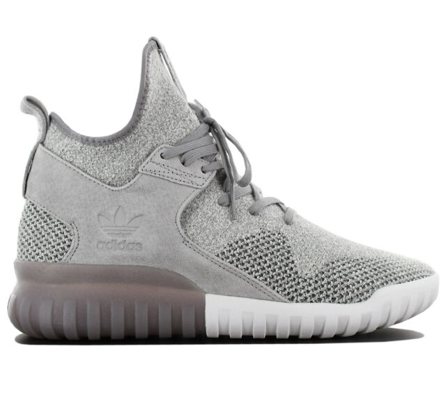 c28bd4d4a536 Adidas Originals Tubular x Pk Primeknit Men s Sneakers mid Shoes Grey BB2380