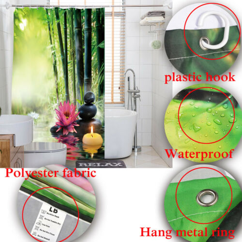 Hello Fall Sunflower Pumpkins Pickup Maple Waterproof Fabric Shower Curtain Set
