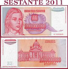 YUGOSLAVIA 1 BILLION 1000000000 1.000.000.000 DINARA 1993  P 126  FDS / UNC