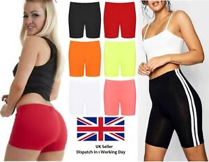 New-Ladies-Womens-Cycling-Gym-Plain-Stretch-Shorts-Elastic-Hot-Dance-Pants-8-26