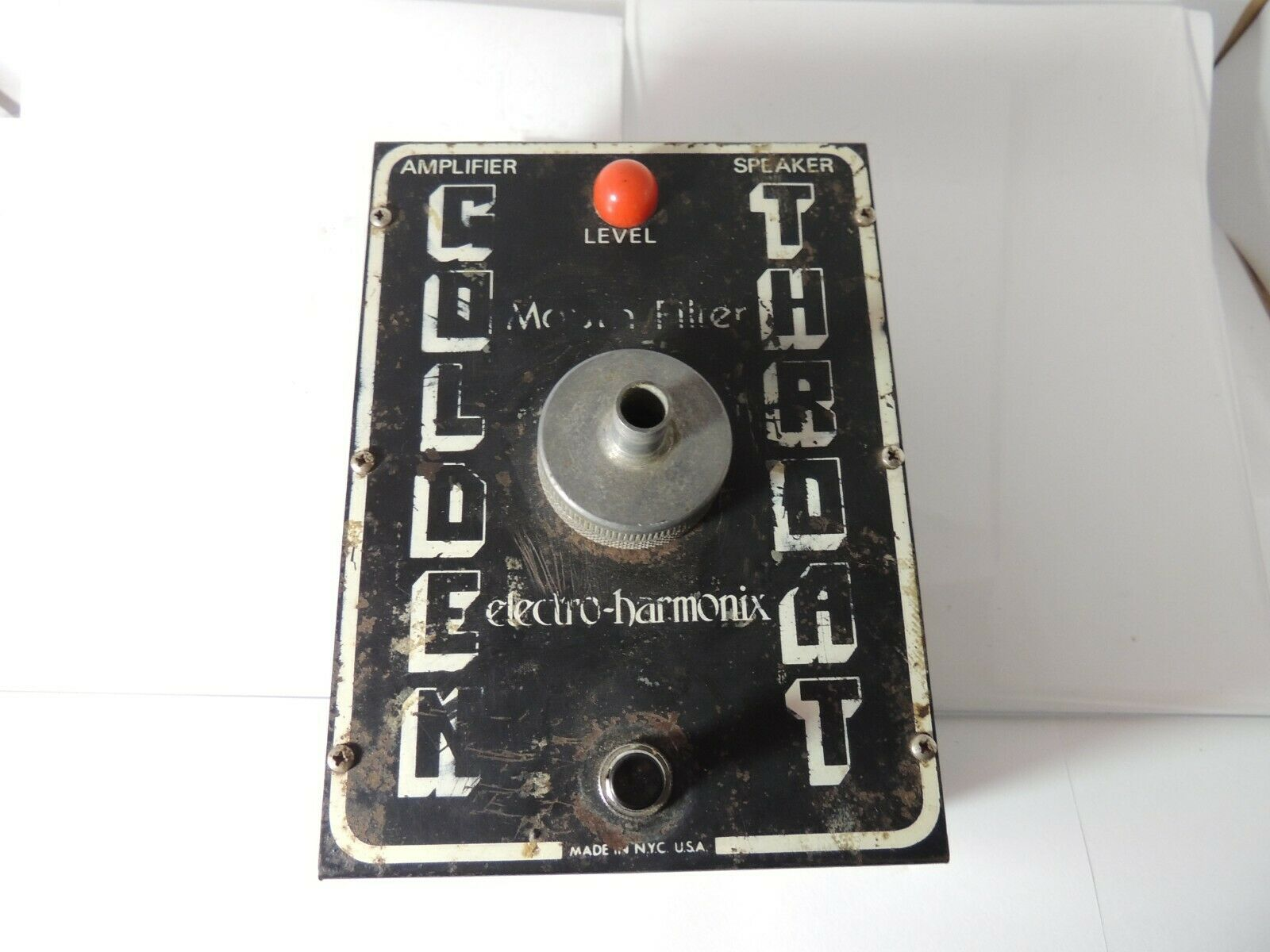 Vintage Electro Harmonix Golden Throat Talk Box Effects Pedal Free USA Shipping