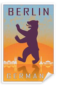 Postereck-Poster-1840-Berlin-Plakat-Hauptstadt-Wahrzeichen-Germany-Europa