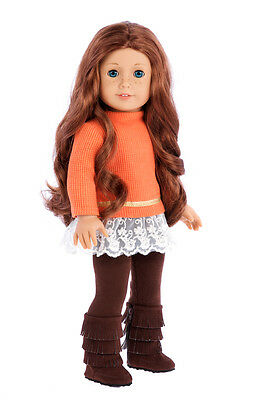 Hello Sunshine - 18 inch American Girl Doll Clothes - Tunic, Leggings, Boots