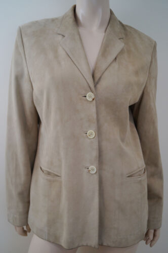 Sand Made Leather In Nichols Italy Uk14 Lined Jacket Beige Harvey Suede wXqBOn1W