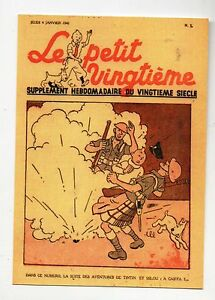 Carte-Postale-Tintin-Le-Petit-Vingtieme-n-1-4-janvier-1940-Pays-de-l-039-or-noir