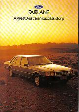 Ford Fairlane ZJ 4.1 EFi Carburettor 4.9 1983 Original Australian Sales Brochure