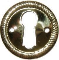 STAMPED BRASS KEY HOLE COVER  B0239