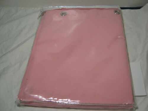 WATERSHED PARK B SMITH  Single Solution SHOWER CURTAIN DORSET Soft Pink  NIP