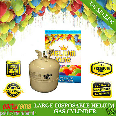 Helium Gas Disposable Cylinder Canister fill 50 Party foil latex Balloons kids