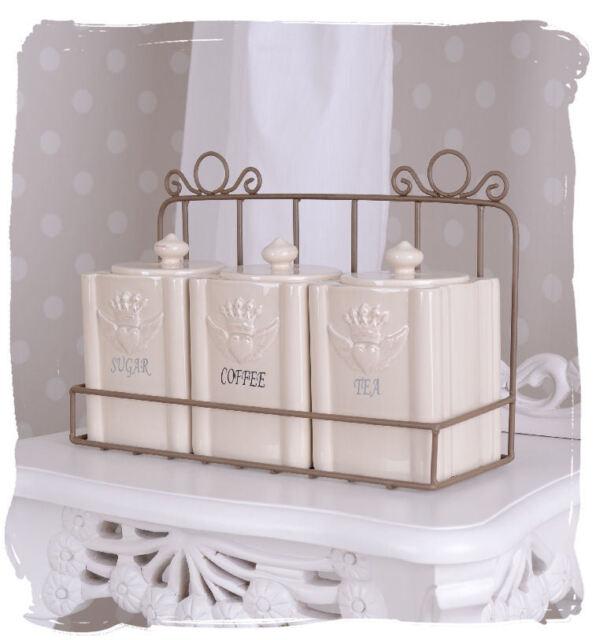 Vorratsbehälter Vorratsdosen Set Vintage Krone Gewürzbehälter Antik Porzellan