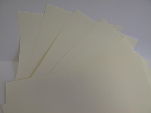 20 x A4 2-Sided Soft Velvet Touch 250gsm White or Cream Card