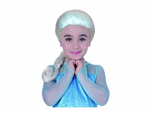 PARRUCCA per bambina da principessa ELSA frozen CARNEVALE 115 14557