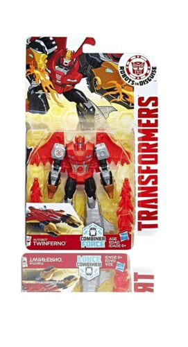 Transformers Robots in Disguise Combineur Force Warriors Classe twinferno ** Nouveau **