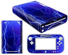 Nintendo Wii U Skin Design Foils Aufkleber Schutzfolie Set - Lightning Motiv