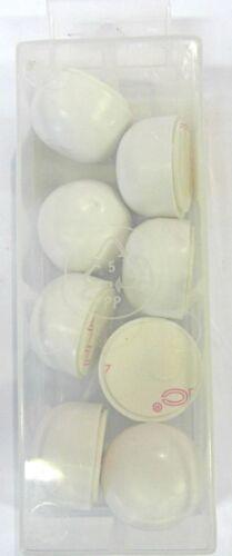 8 Pz Paracolpi bianchi biadesivo plastica semi-rigido ø 25 mm Oreca New