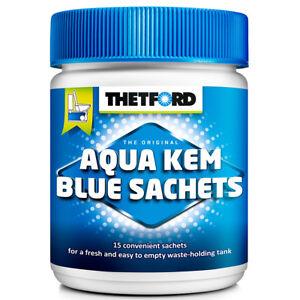 Aqua-Kem-Blue-Sachets-15-Stueck-Sanitaerzusatz-fuer-Campingtoilette-Toilettenzusatz