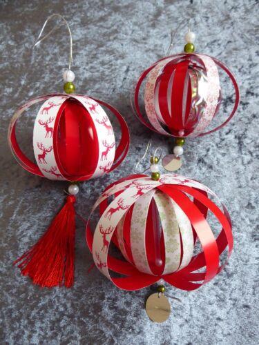 Weihnachtsdekoration; Baumschmuck; Weihnachtskugeln 3er Set