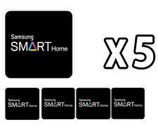 Samsung Door Locks RFID Cards SHS-AKT300 Smart Tag Key Sticker 5-Set Black NEW