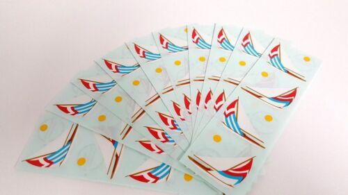 Mrs Grossman Sticker Sheet Lot 10 Strips Sailboat 6.5 x 2