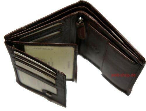 Hochwertige Elegante Geldbörse Geldbeutel Portemonnaie Leder Rotbraun Börse