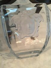 Rosenthal Versace Medusa Lumiere Medium Crystal Frosted Glass Bowl 7""