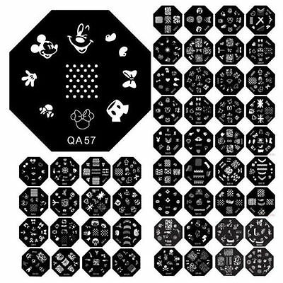 60Designs Pattern Nail Art Image Stamp Stamping Plates DIY Manicure Template NEW