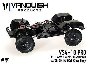 VANQUISH-1-10-VS4-10-PRO-Rock-Crawler-Kit-w-Origin-Half-Cab-Clear-Body-09003
