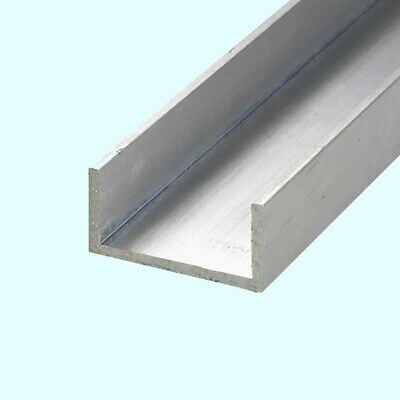 4 FT 3//4 Aluminum Channel 1//16 Walls x 5//8 High 6063 Alloy T-6 Temper Clear Anodized
