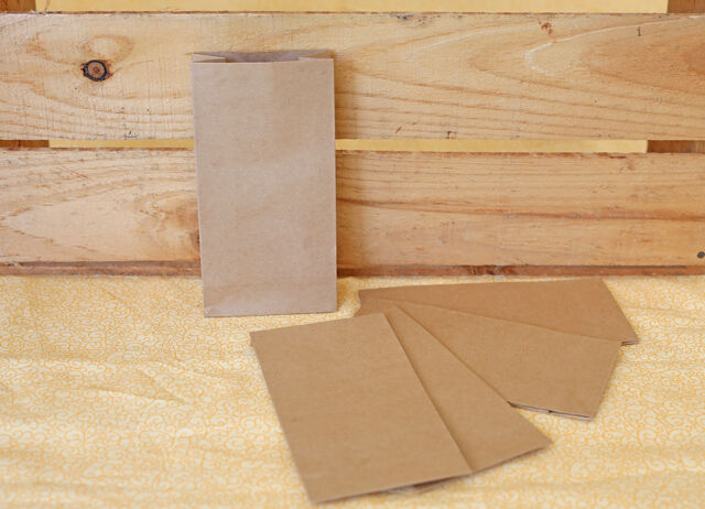 50x Small Brown Kraft Party Favour Bags Lolly Bag Loot & Gift Bags Lolly Buffet