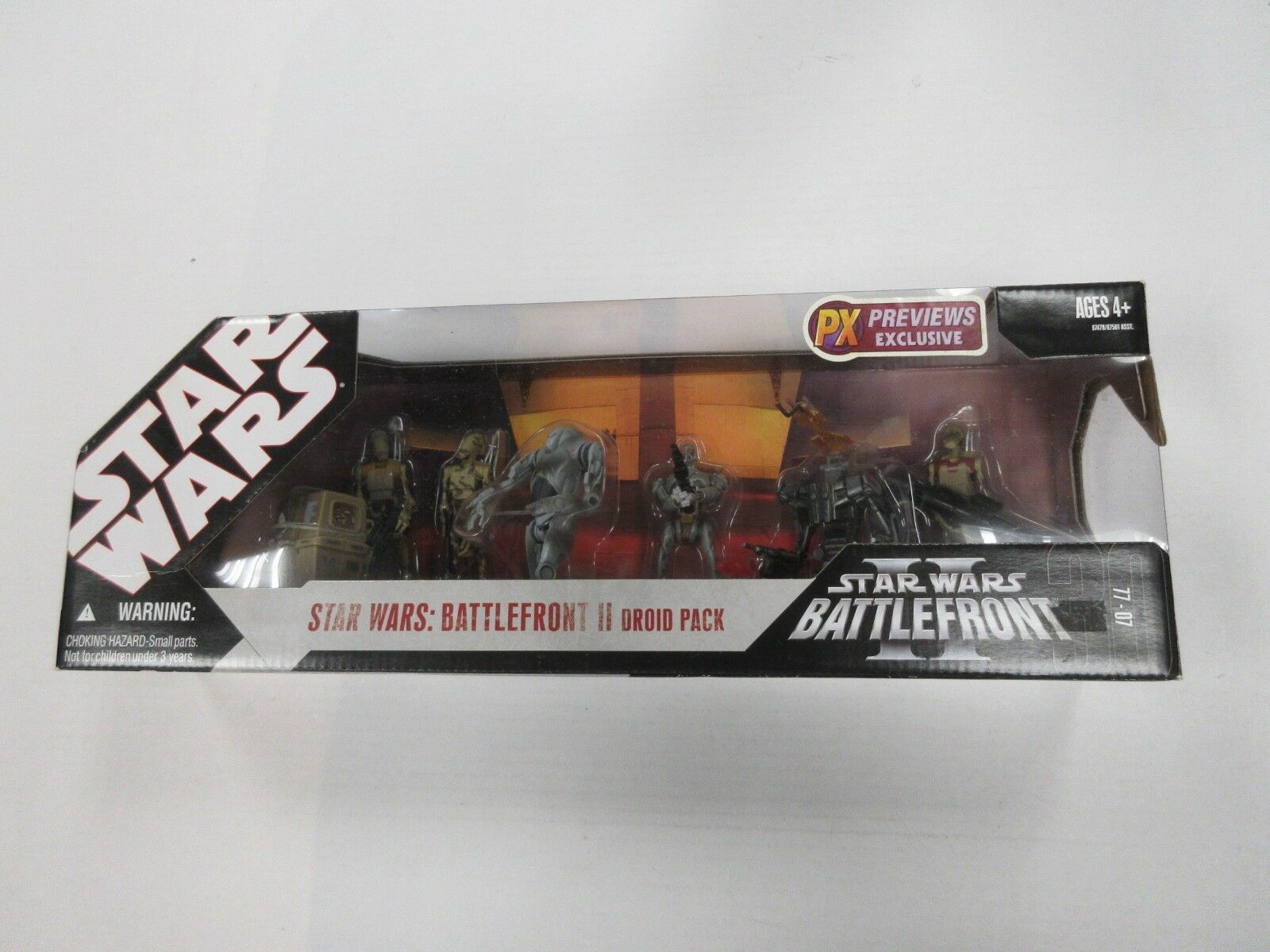 HASBRO estrella guerras PREVIEWS EXCLUSIVE BATTLEdavanti 2 DROID 7 cifra SET NIP SEALED