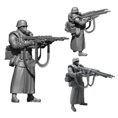 1//35 Deutscher Super Double Gun Resin Soldat