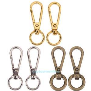 4pcs-Vintage-Metal-Dog-Buckle-Snap-Hook-Bag-Clasp-Clip-DIY-Keychain-Key-Ring